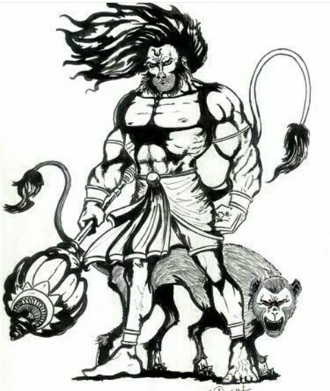 hanuman-drawing-37